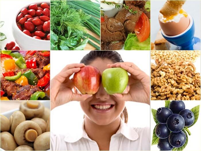 Продукты питания, полезные для зрения